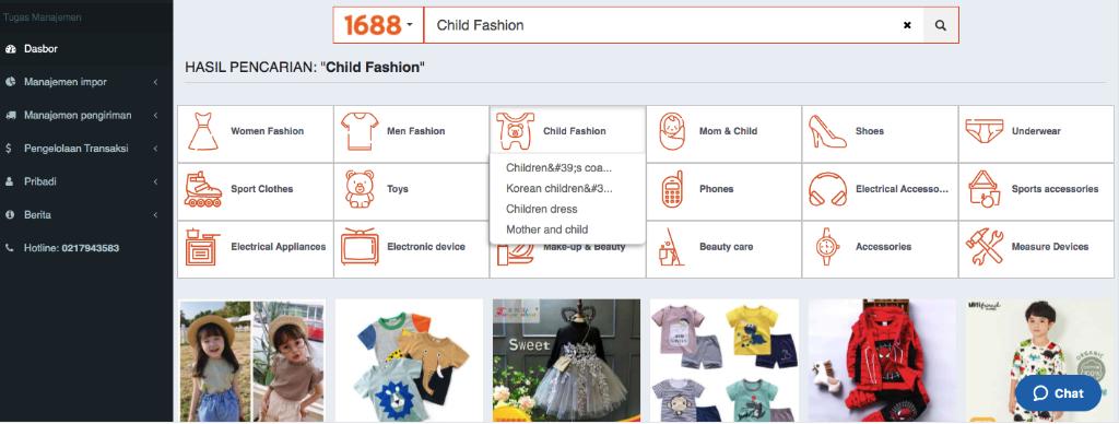 Pencarian import baju anak