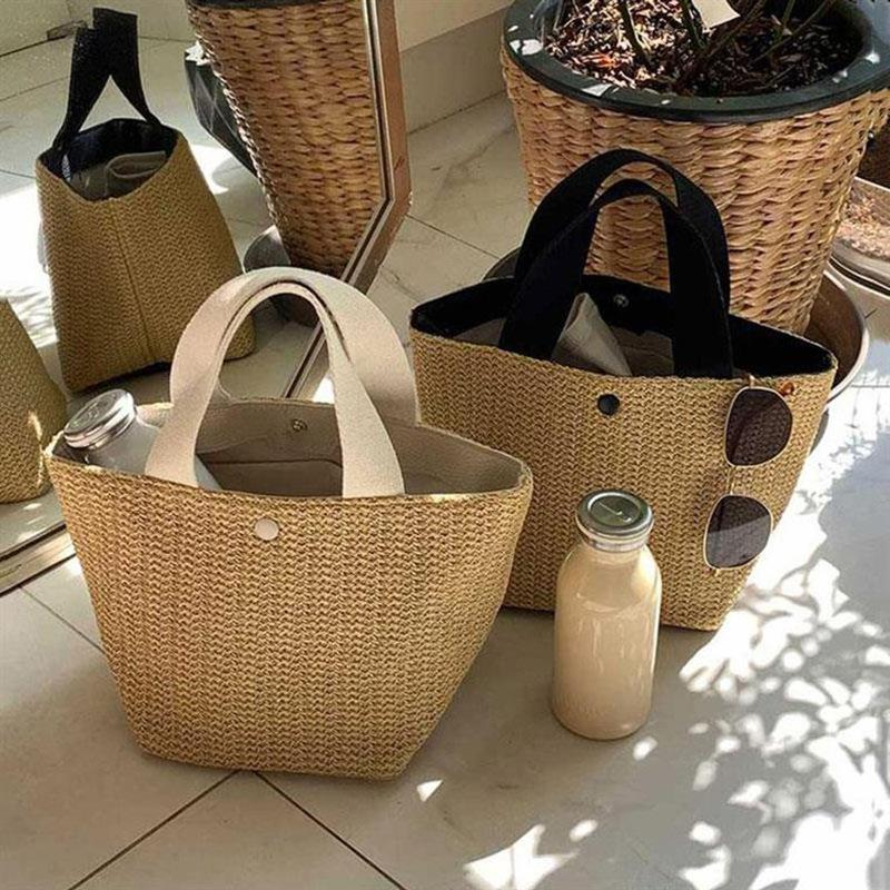 New summer portable woven straw bag