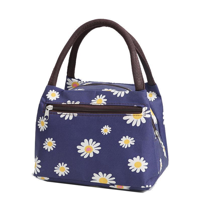 Printed women's waterproof solid color handbag
