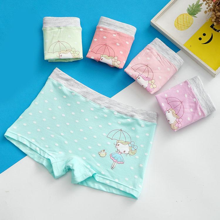 Children's four-corner girls girls underwear