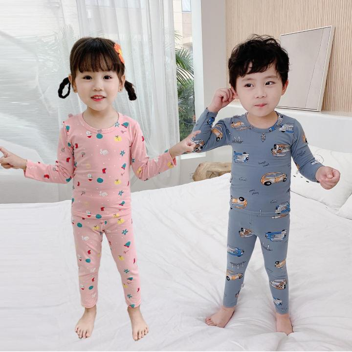 Children's boys autumn and winter long-sleeved long-sleeved long pants