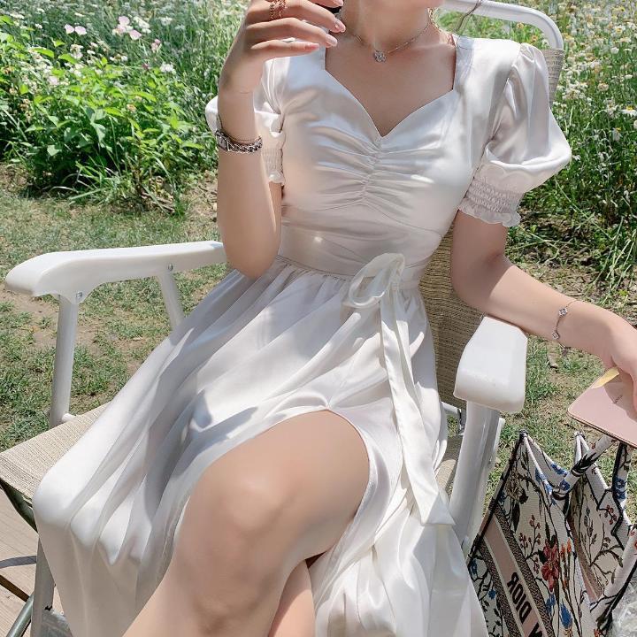 Thin temperament byyou white dress