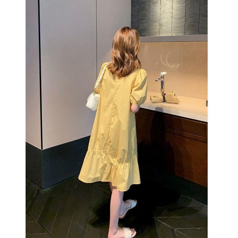 Thin V-neck Slim French Dress