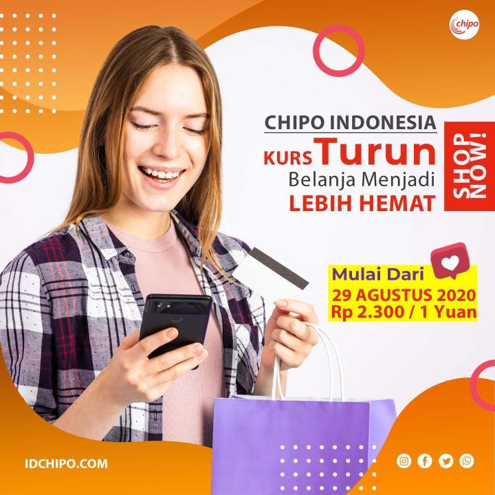KURS CHIPO INDONESIA TURUN